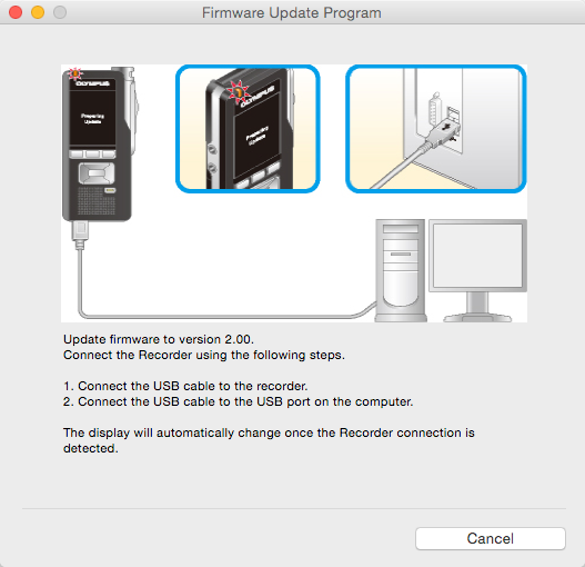 Olympus DS-7000 Firmware Update v2.0