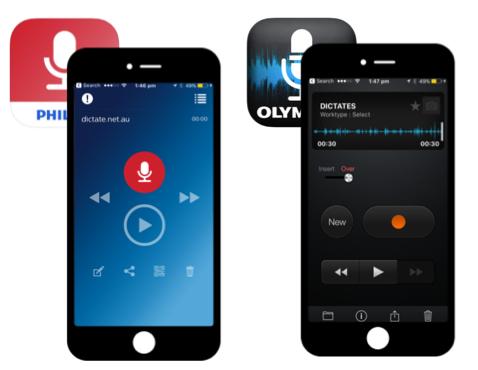 Olympus ODDS iPhone - Philips SpeechLive iPhone