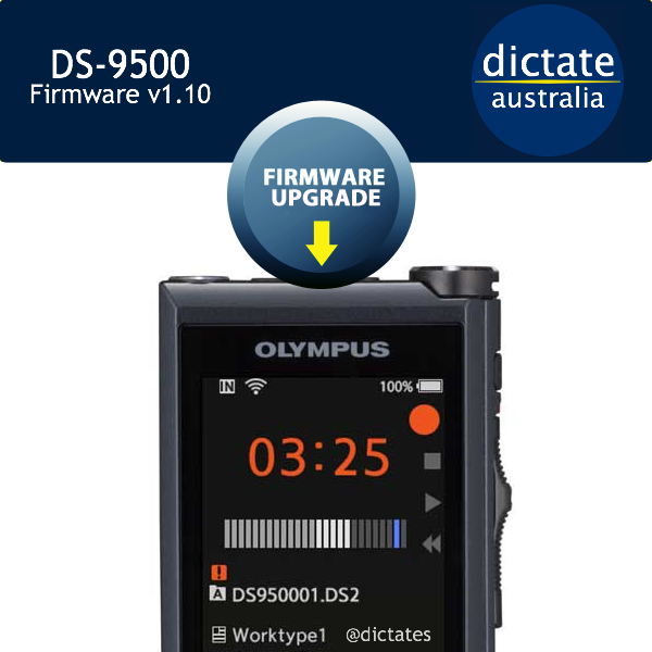 Download Olympus DS-9500 Firmware Update v1.10